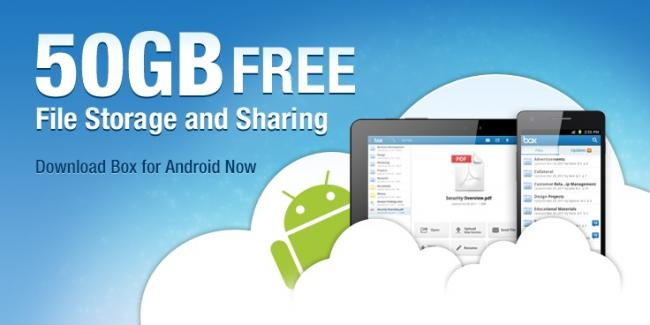 BOX 50 Gigas Gratis En La Nube! Solo Para Android. Hasta el 23 de Marzo