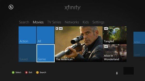 Mas canales para XBOX 360: Comcast Xfinity TV, HBO Go y MLB.tv