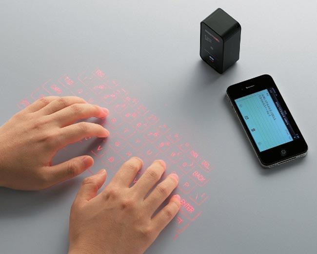 Elecom wireless Teclado que se proyecta en cualquier superficie y tiene modo Mouse