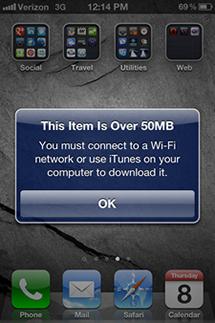Apple eleva el limite de descarga