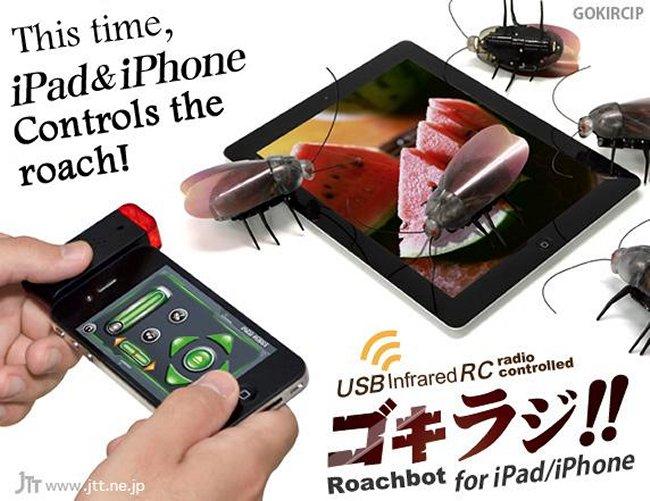 Roachbot 2.0 Ahora Manejaras Cucarachas Con El iPhone
