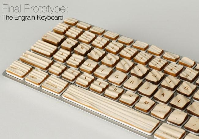 Engrain Keyboard: Teclado Hecho De Madera
