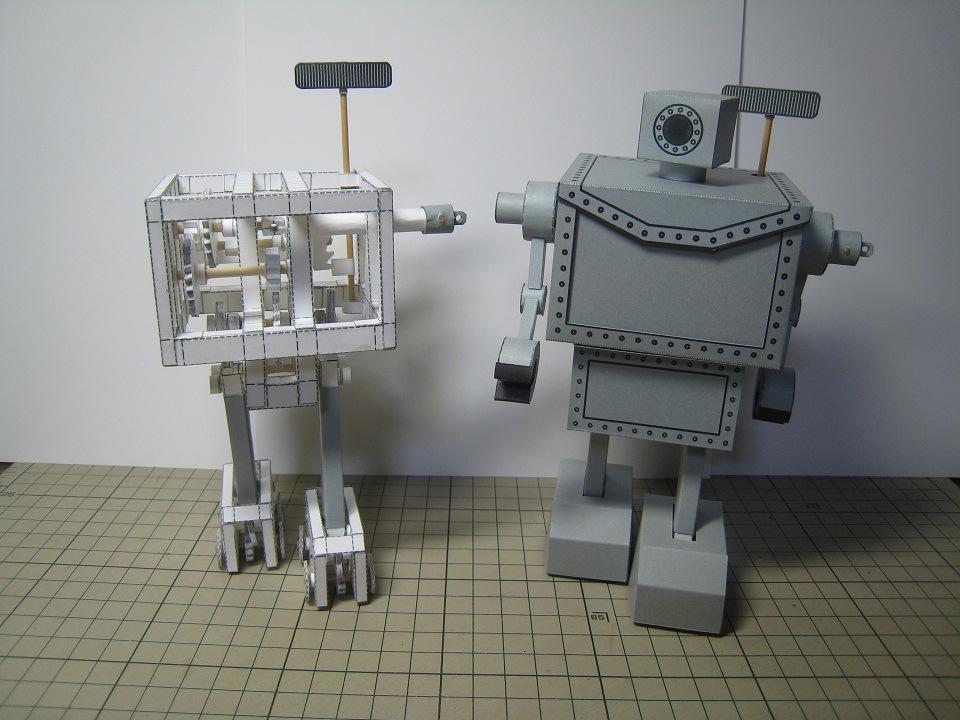 Impresionantes Robots Bípedos De PAPEL.
