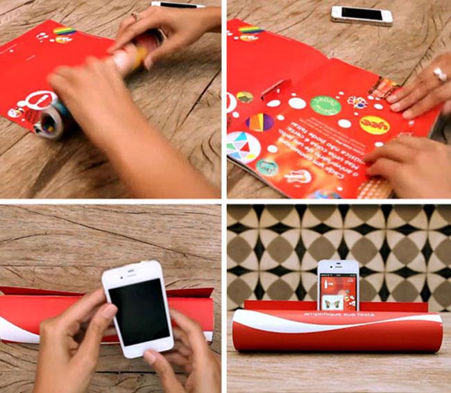 Comercial De Coca Cola Te Dice Cómo Convertir Una Revista En Amplificador de Sonido Para Smartphone (vídeo)
