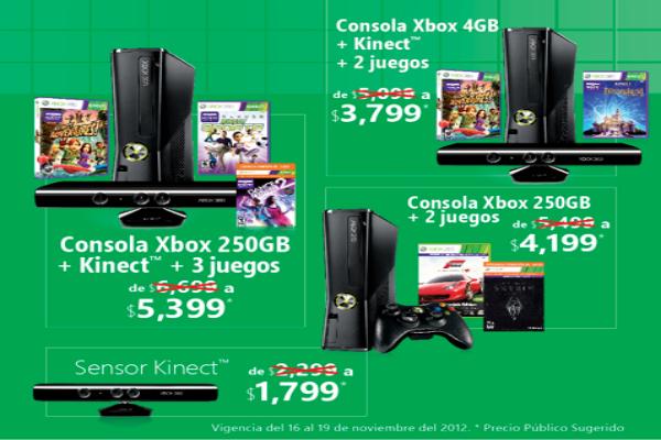 Microsoft se une al Buen fin con grandes descuentos para Xbox 360 y Kinect de hasta $1,300 pesos