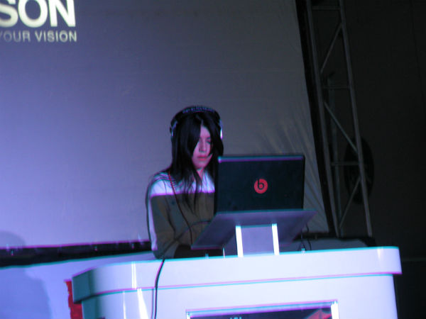Jessica Audiffred le puso sabor con su música electrónica al EGS Fest 2012