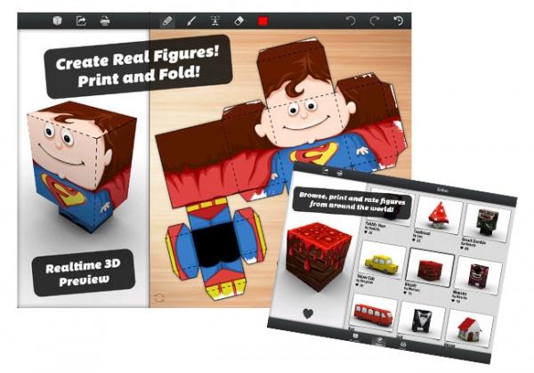 La App De La Semana: Foldify 3D Papercraft: Haz Modelos 3D Desde Tu iPad (vídeo)