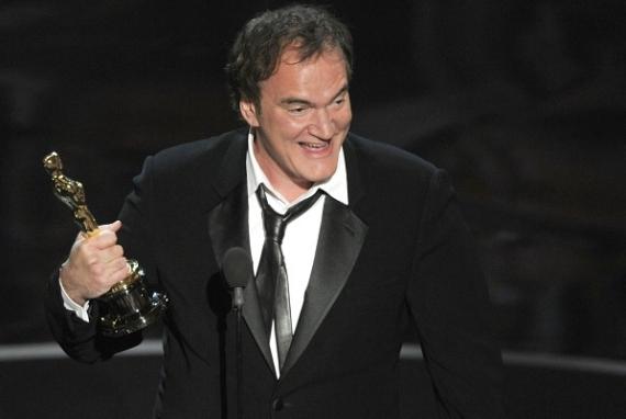 El mejor guion original fue el señor Quentin Tarantino quien se mostró contento en todo momento.