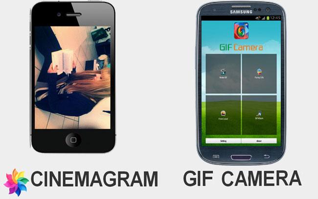 Cinemagram y su alternativa en Android: Gif Camera