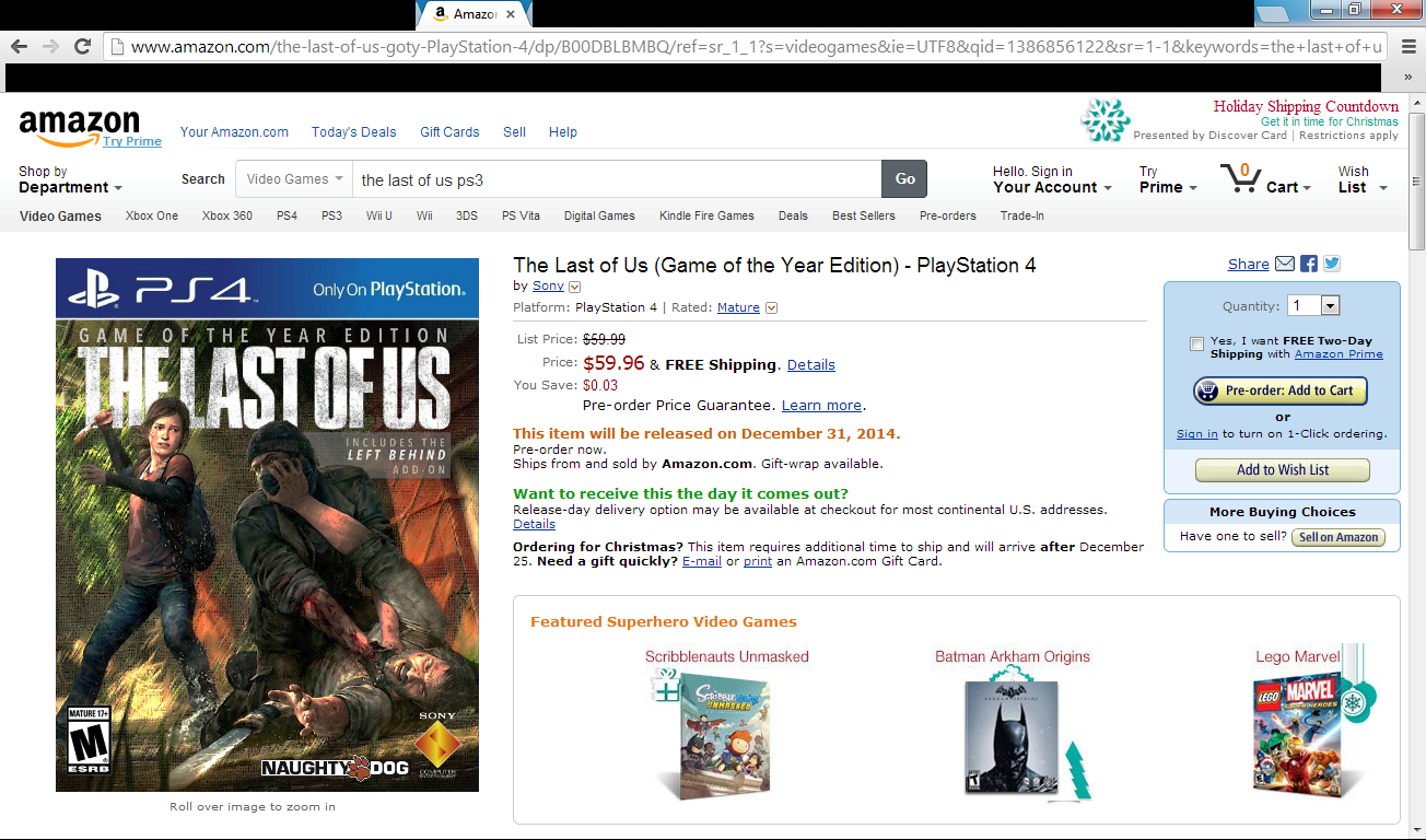 The Last Of Us Game Of The Year Edition Llegará A PS4