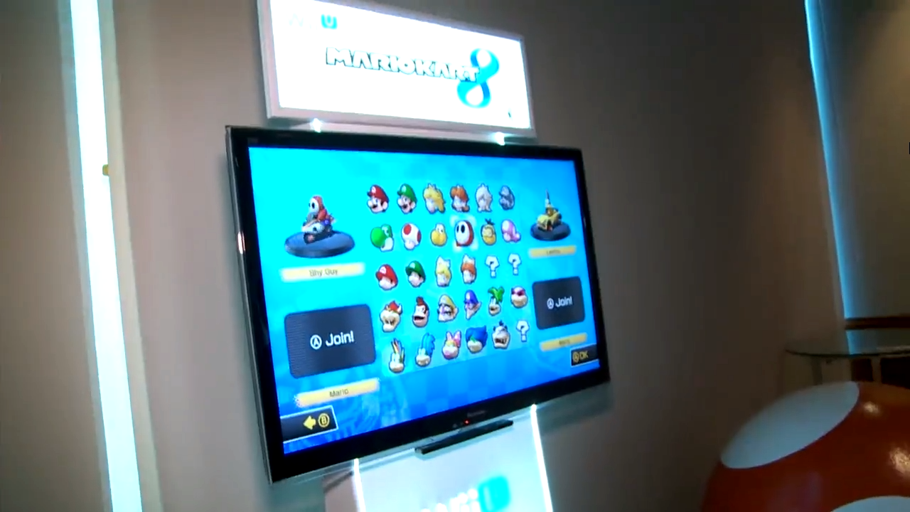 Conoce la pantalla de selección de personajes de Mario Kart 8