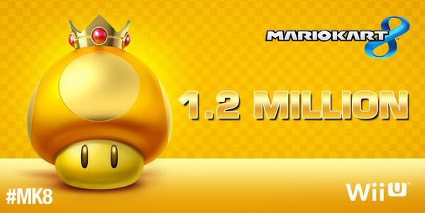 Mario Kart 8 vende 1.2 millones de copias en su estreno