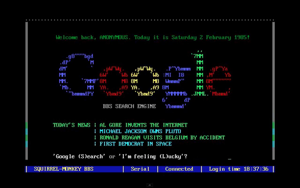Como se veria Google en los 80s