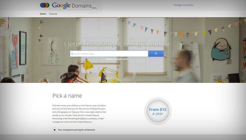 Google vende dominios de Internet a usuarios