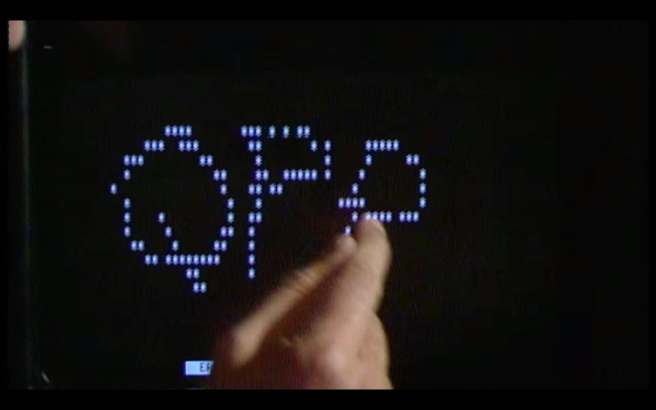 Como se imaginaban las pantallas táctiles en 1982