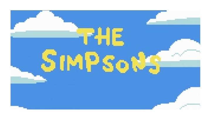 Los Simpsons al estilo de 8 bits