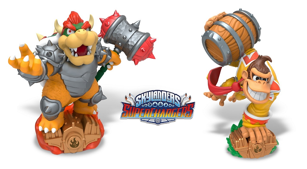 E3 2015 Donkey Kong y Bowser llegan a Skylanders Superchargers