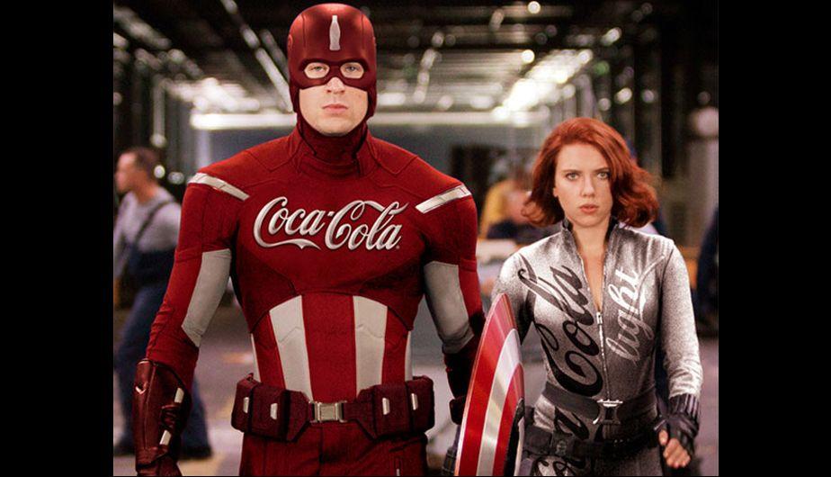 Galería: Super héroes con marcas de productos