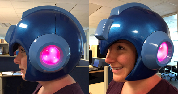 Casco oficial de Mega Man en venta