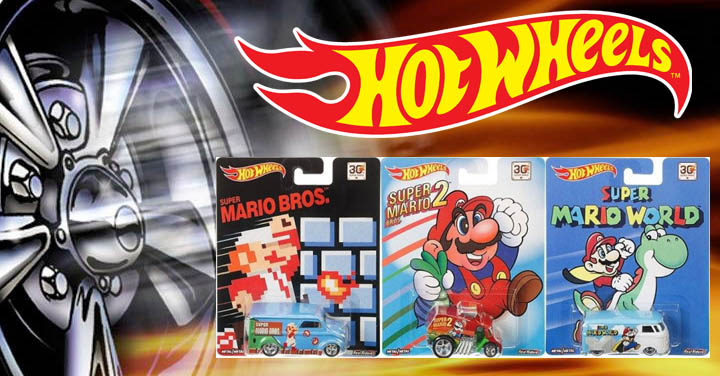 Super Mario Bros llega a los vehiculos Hot Wheels