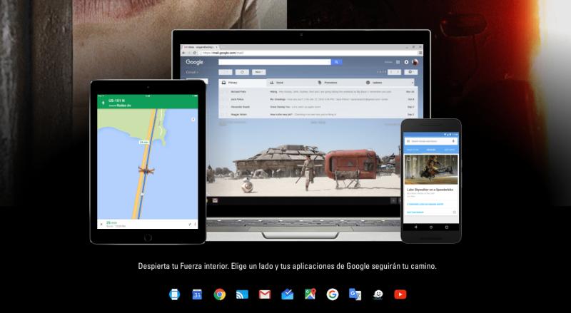 Skin Star Wars para los servicios de Google