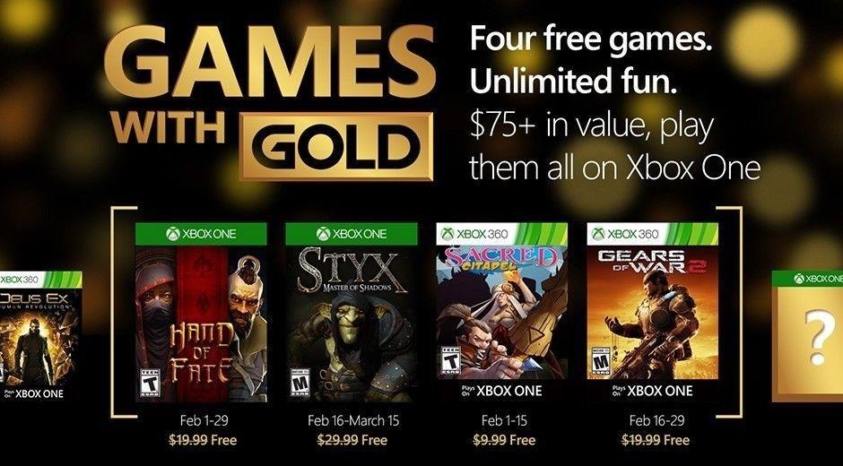 Games With Gold títulos que llegan en el mes de Febrero