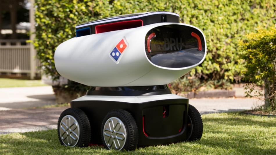 El robot repartidor de pizza de Domino's