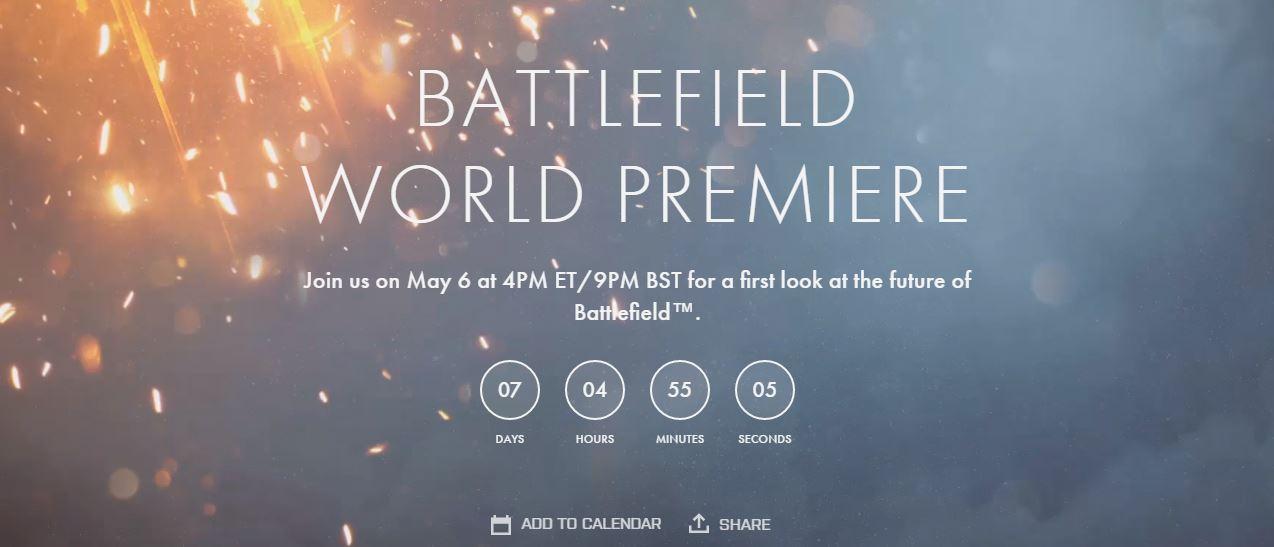 Se hará anuncio oficial de Battlefield 5 en Mayo