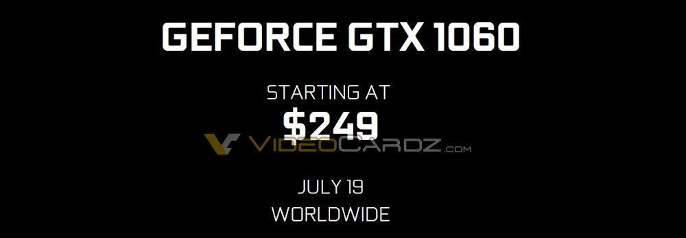 NVIDIA GeForce GTX 1060 Price