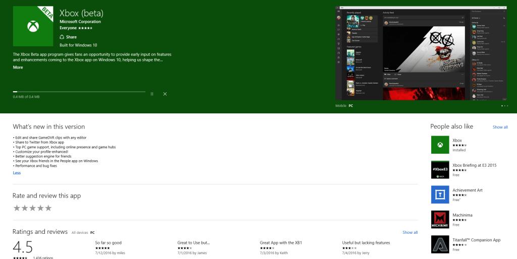 Windows 10 Xbox 1
